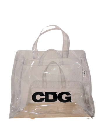 Clear Polyester Mix Comme Des Garcons Tote Bag Sheer Size Os