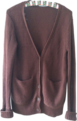 Chocolate Cotton Alexander Wang Cardigan Loose-fit