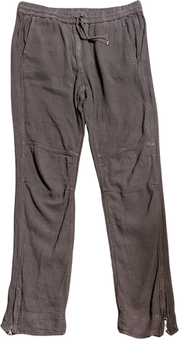 Concrete Linen Mix Isabel Marant Trousers Zippered Draw String