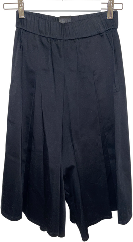 Black Cotton Uy Studio Berlin Culottes Stretch Waist Pleated