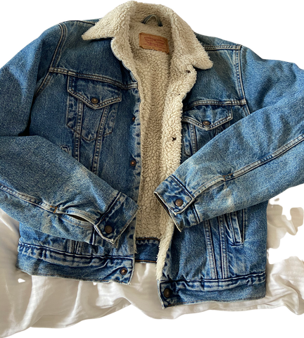 Denim Blue Denim Levi's Jeans Jacket Fuzzy