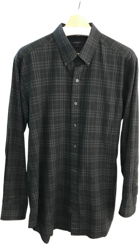 Black Cotton Burberry Shirt