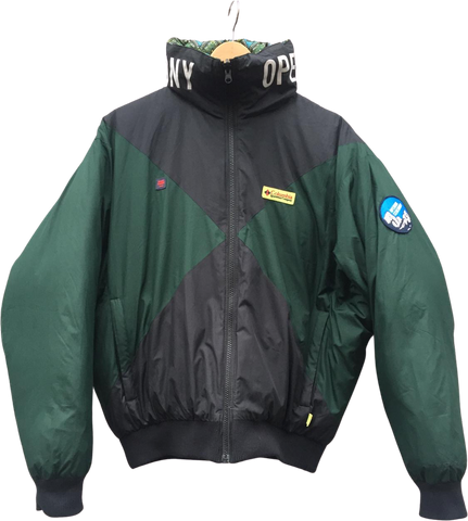 Black-Hunter Green Down Opening Ceremony x Columbia Heavy Bomber Convertible Boxy Size M/L