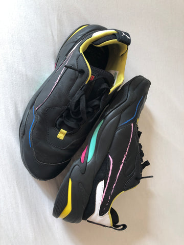 Black-Colorful Leather Puma x Bradley Theodore Sneakers  Size 42