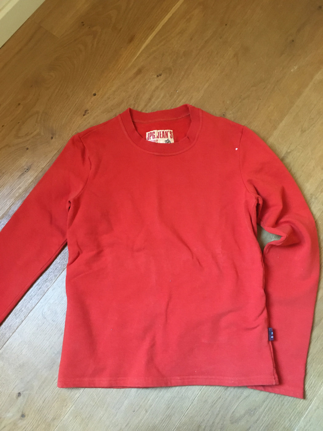 Red Cotton Jpg By Gaultier Sweatshirt Oversized Pocket Size XS/S