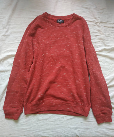Poppy-White Cotton / Poly Mix A.p.c. ( Mens ) Sweater  Size S/M