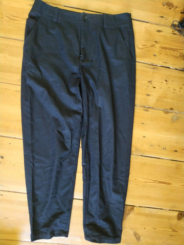 Midnight Blue Wool / Polyester Mix COS Trousers  Size 32