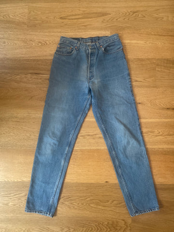 Pale Denim Blue Cotton Levi's High Waist Jeans  Size 30
