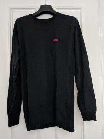 Black Cotton 032c T-shirt long sleeve  Size M/L