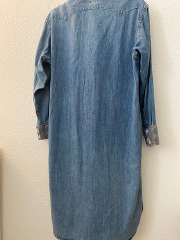 Pale Denim Blue Denim Vintage Shirt Elongated