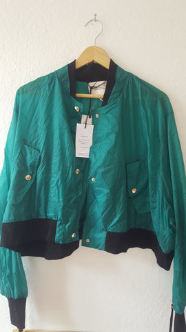 Hunter Green Gore-Tex Dorothee Schumacher Light Jacket Special Button Crop Size XS/S