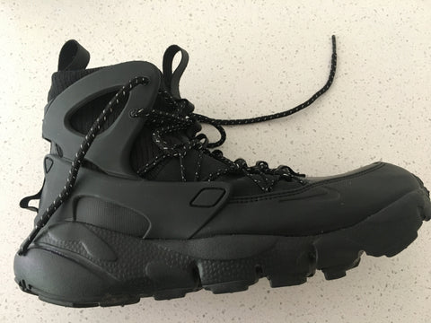 Black Leather/synthetic Mix Nike Shoes Boots Conceptual Detail Size 40.5