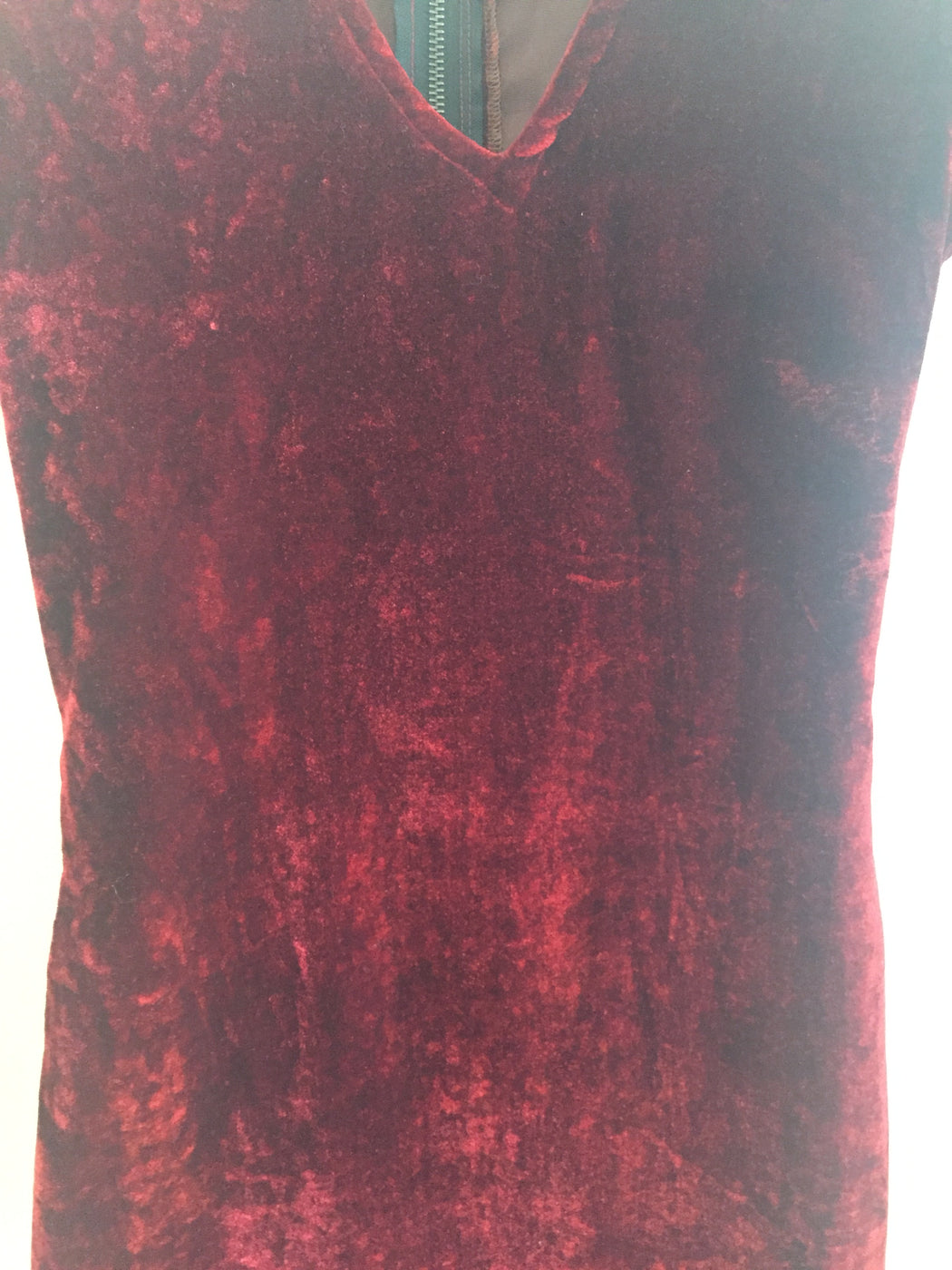 Ox Blood Velvet Vintage Cocktail Dress  Size Os