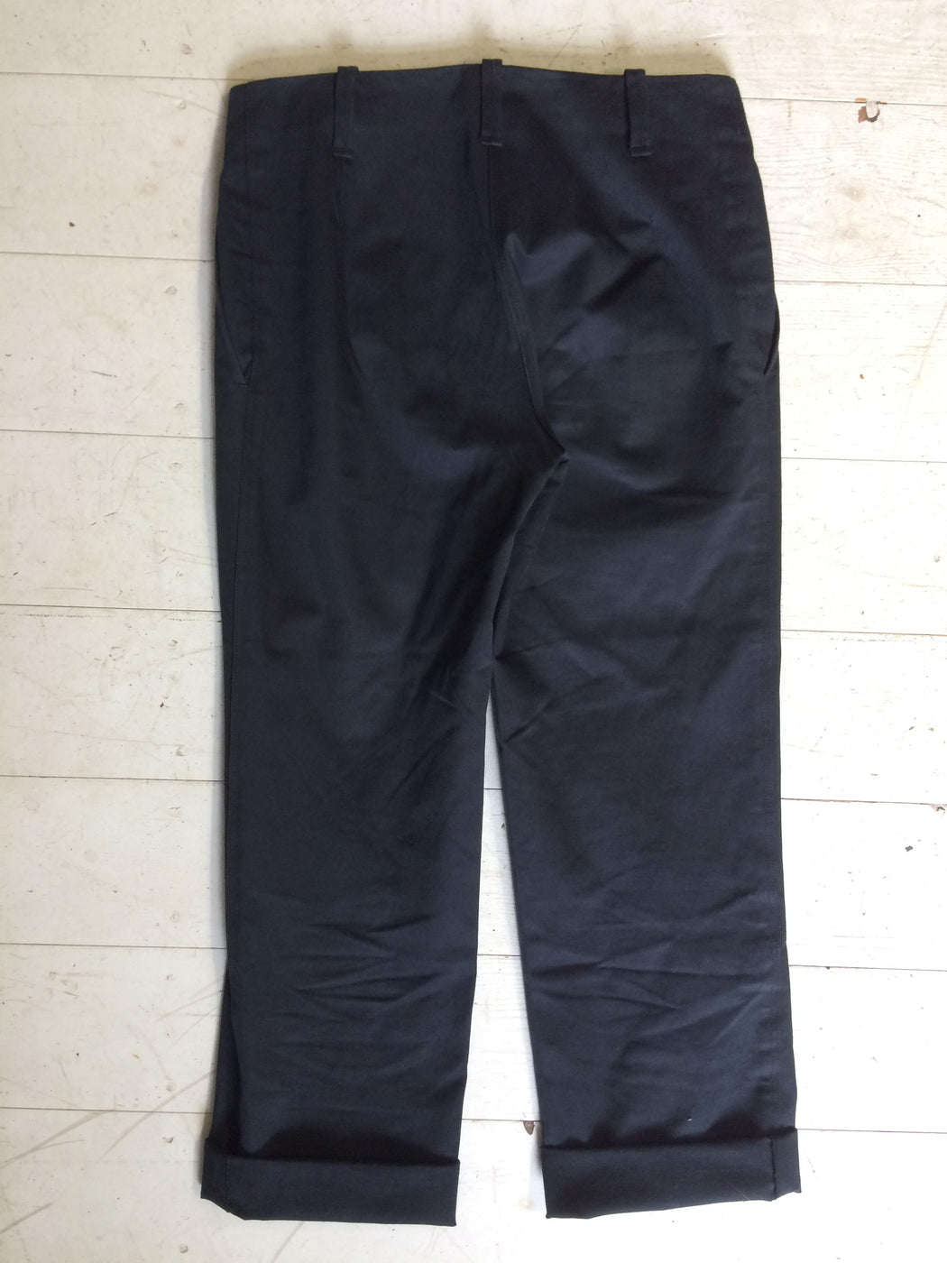 Midnight Blue Cotton Jil Sander Trousers  Size 26/27
