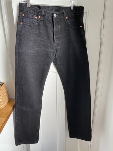 Dark Grey Cotton Levi's Jeans