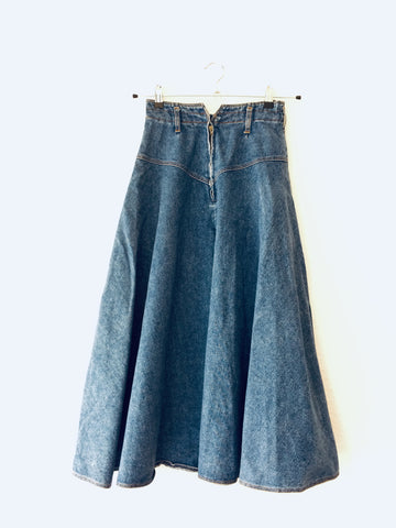 Cloudy Sea Cotton French Connection Midi Skirt  Size 26/27