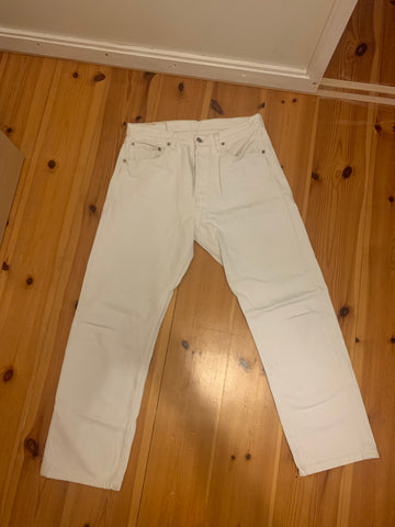 White Cotton Levi's Jeans