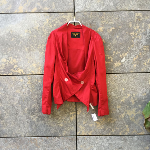 Red Cotton VIVIENNE WESTWOOD ANGLOMANIA Blazer-Jacket  Size M/L
