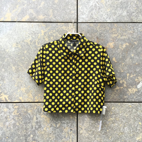 Yellow-Black Rayon Contemporary Main Shirt Fun Size S/M