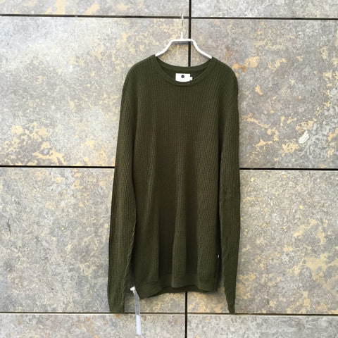 Military Green Cotton Nn07 Light Sweater  Size S