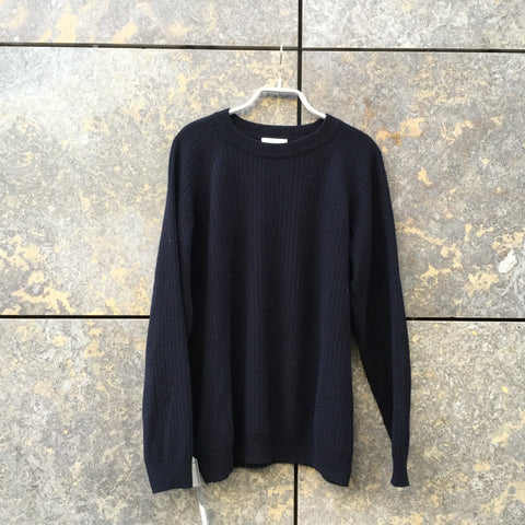 Navy Wool Wood Wood Sweater  Size S