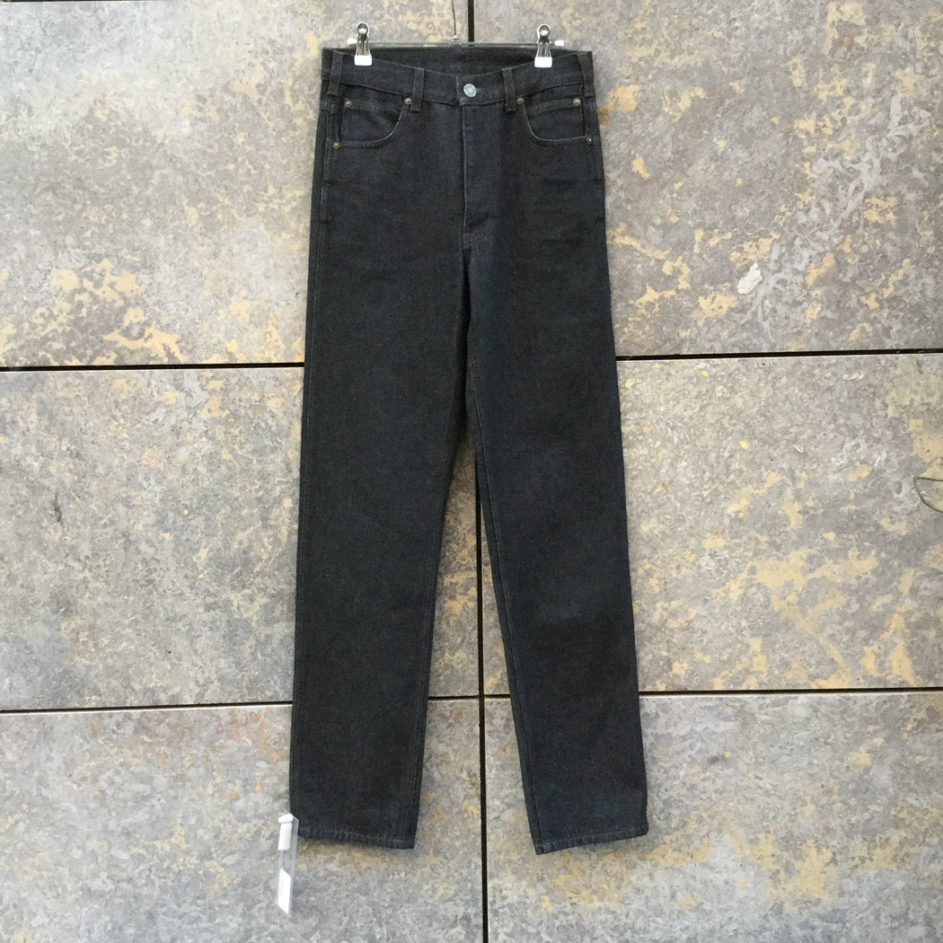 Black Denim Calvin Klein High Waist Jeans Straight Leg Size 28/29