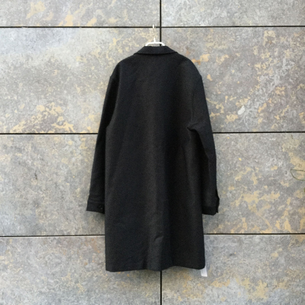 Black Cotton Mix Jil Sander Trench Coat  Size L