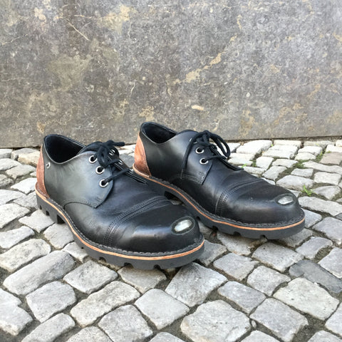 Black-Brown Leather Diesel Shoes  Size 12