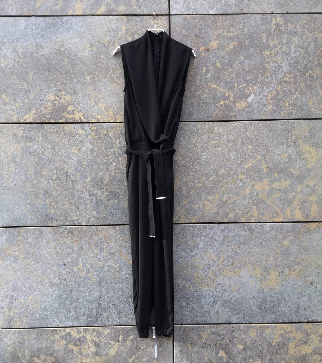 Contemporary Main Romper Black Polyester Modern Contemporary Main Romper   Sleeveless Size Xs/S