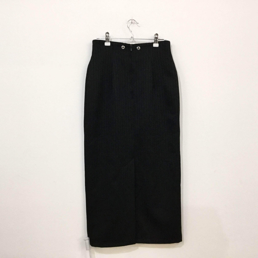 Contemporary Maxi Skirt Black Polyester Mix Contemporary Maxi Skirt  Size 30/31