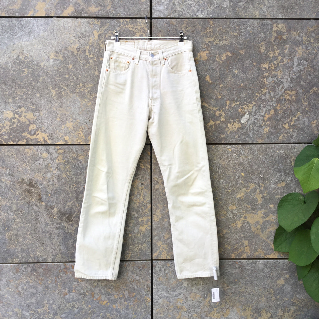 Beige Denim Levi's High Waist Jeans  Size 28/29
