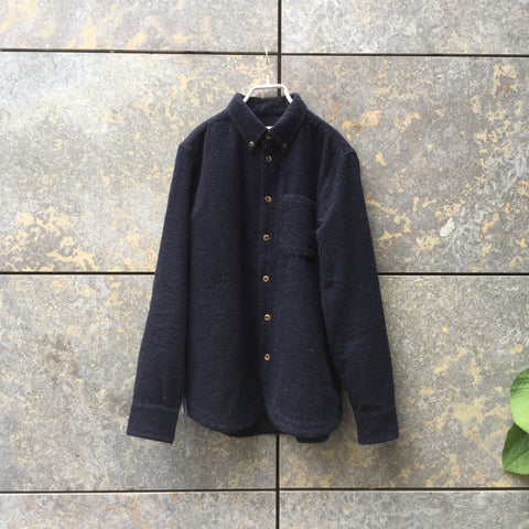 Navy Alpaca Mix A Kind of Guise Oversized Shirt  Size M