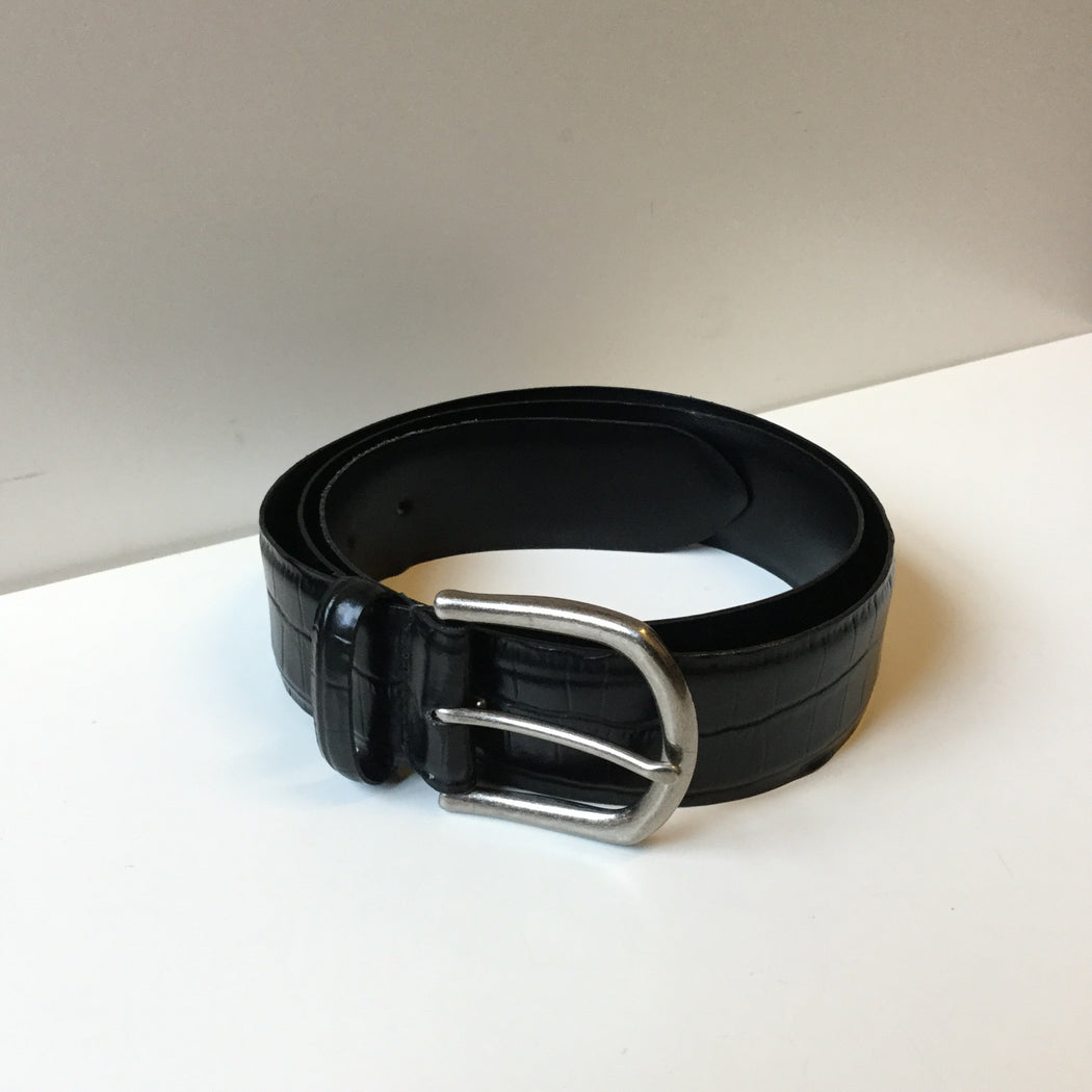 Black Leather Sandro Belt