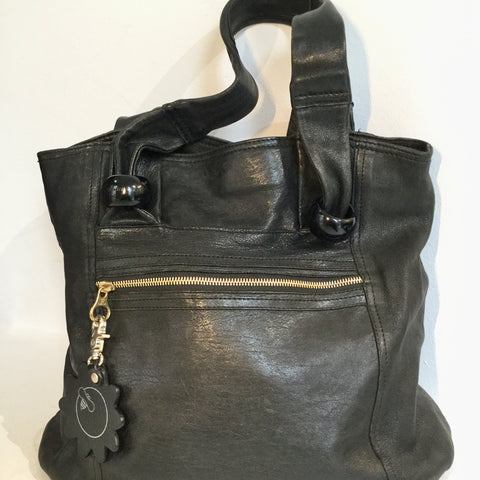 Black Leather See By Chloé Shoulder Bag Conceptual Detail