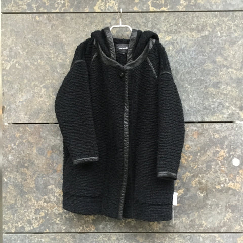 Black Wool Mix Isabel Marant Knit Jacket Hoody Oversized Size S/M