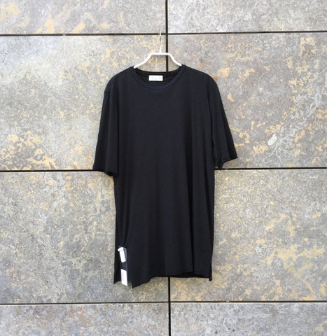 Black Bamboo Independent T-Shirt Raw Hem Size M