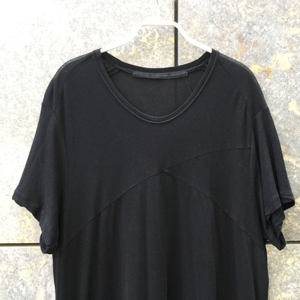 Black Crepe Julius Japan T-Shirt Extended Size M