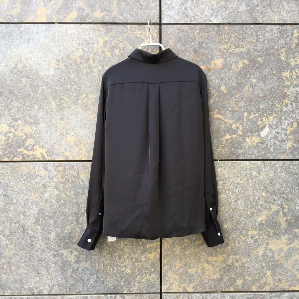 Black Polyester Modern Contemporary Top LS Zippered Size S/M