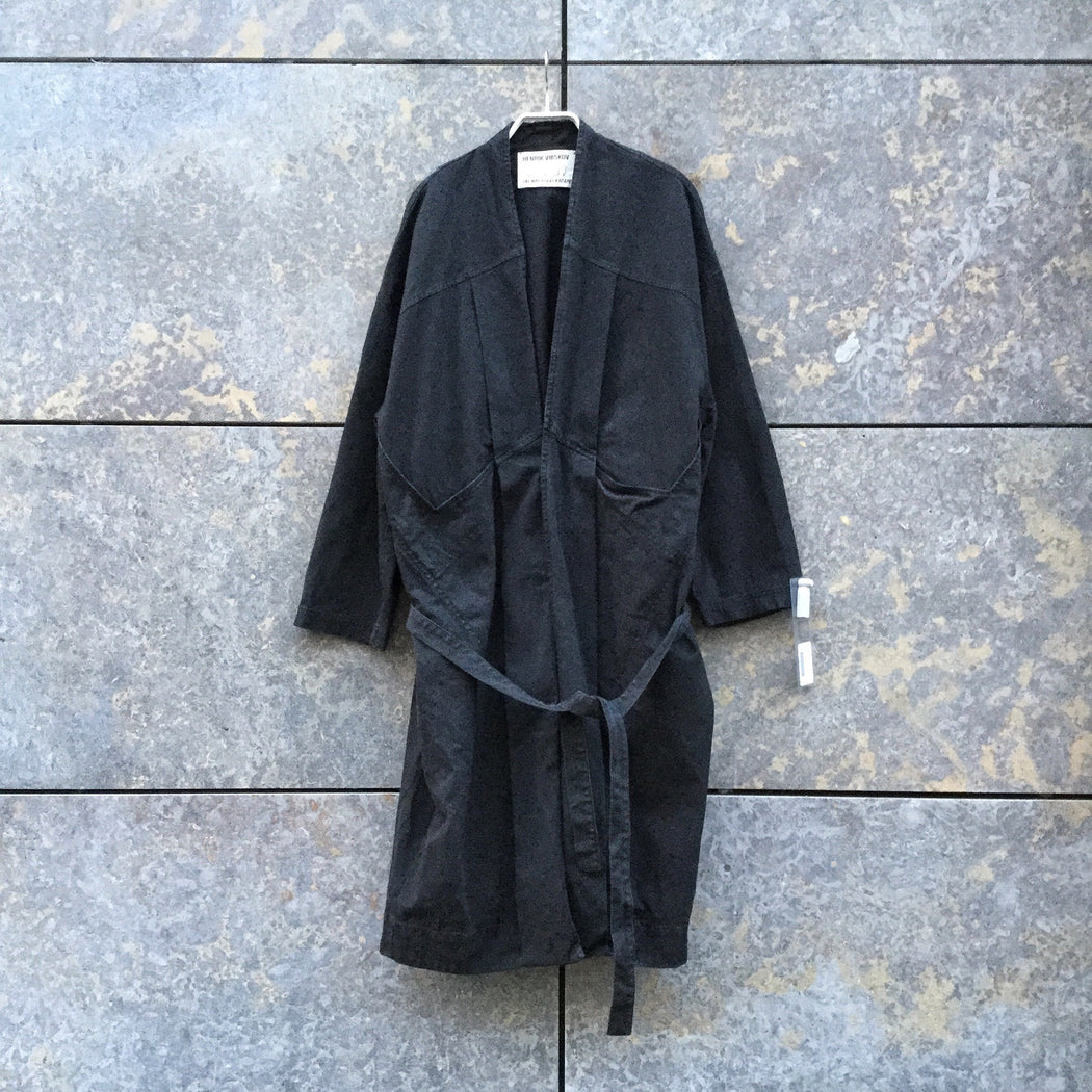 Black Cotton Mix Henrik Vibskov Light Coat Extended Size M