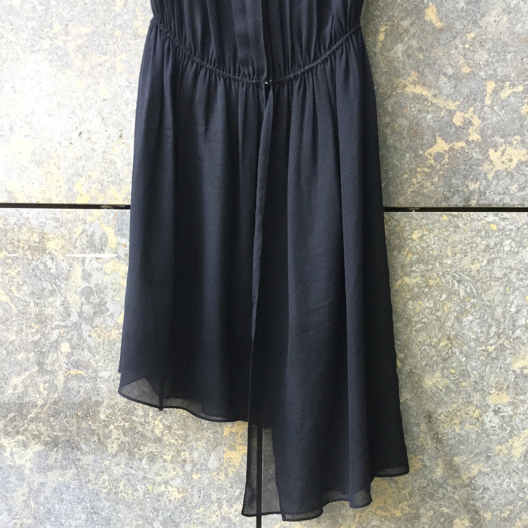 Black Polyester Mix Sandro Mini Dress Sleeveless Size XS/S