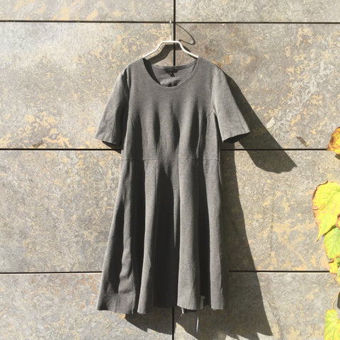 Grey Taupe Rayon Mix COS Midi Dress  Size M/L