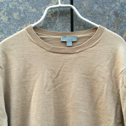 Nude White Wool COS Light Sweater  Size M
