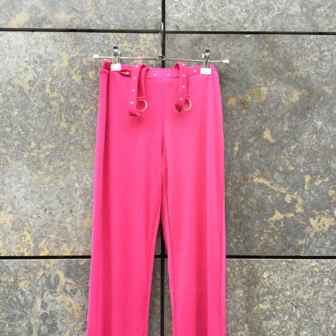 Pink Spandex Mix I.am.gia High Waist Pants Bell Bottom Attachment Size 25/26