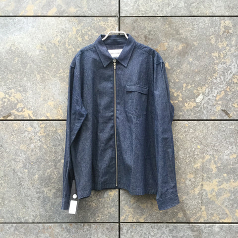 Midnight Blue Cotton Our Legacy Light Jacket Minimalist Detail Pocket Detail Size L/XL