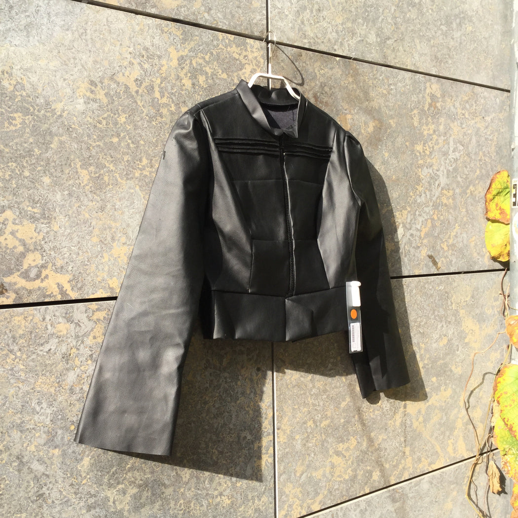 Black Pvc Contemporary Main Blazer Loose-fit Size XS/S