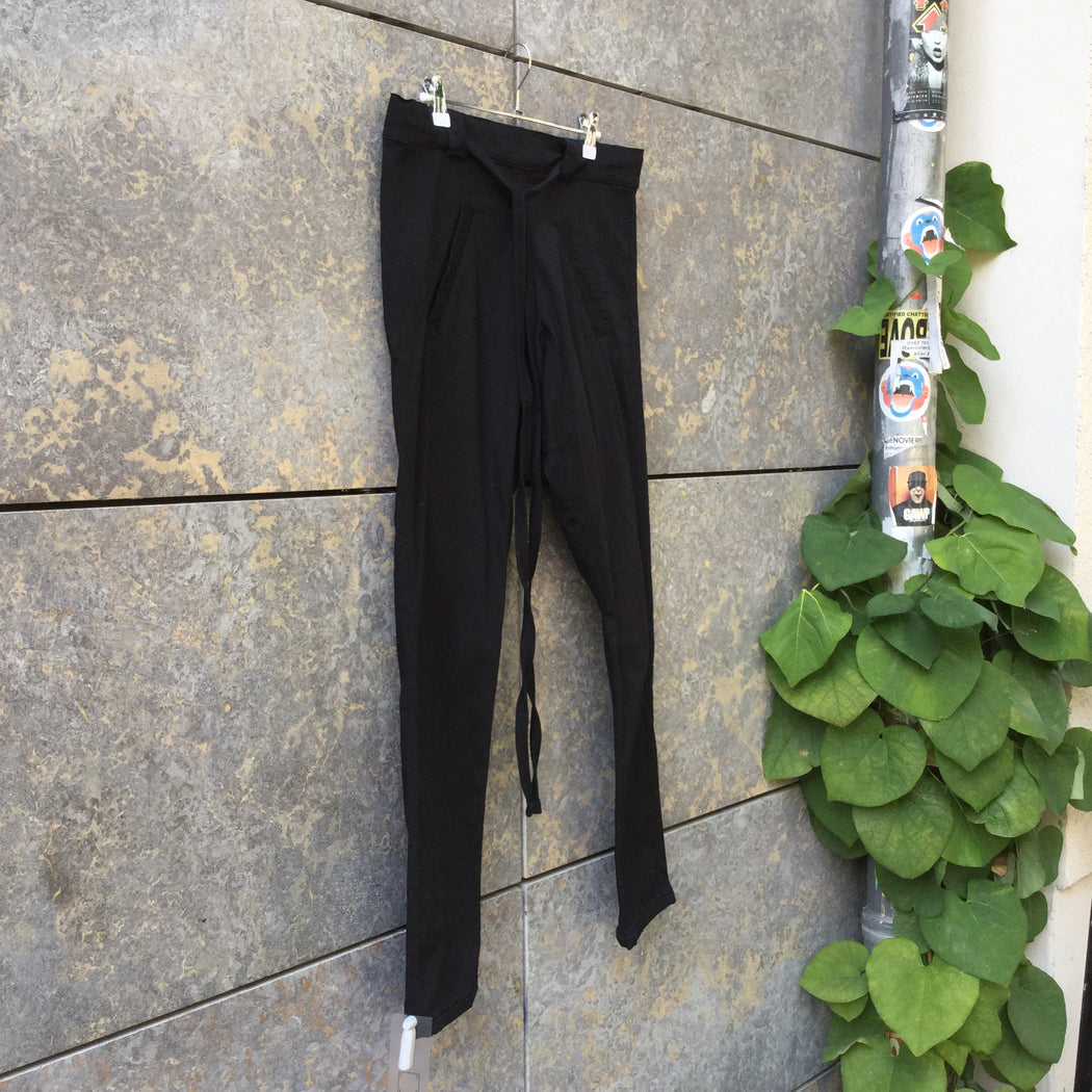 Black Cotton Mix Independent Trousers Draw String Size 30