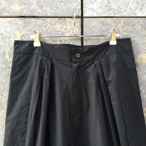 Black Cotton Independent 3/4 Pants Slit Panel Size 30