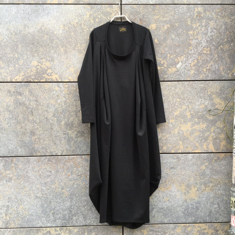 Black Cotton / Rayon Mix VIVIENNE WESTWOOD ANGLOMANIA Dress Oversized Size M/L