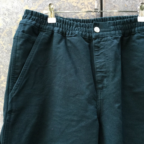Moss Green Canvas Carhartt WIP Trousers Stretch Waist Size 34