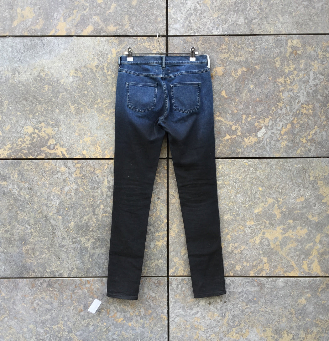 Black-Blue Denim MM6 Maison Margiela Slim Fit Jeans  Size 28/29